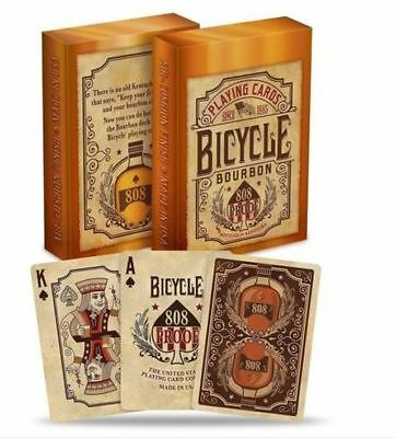 Bicycle Bourbon 808 Proof Poker Playing Cards Deck By USPCC