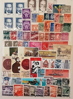 Europe and Scandinavia Used and Mint Stamps Collection  Lot # 2