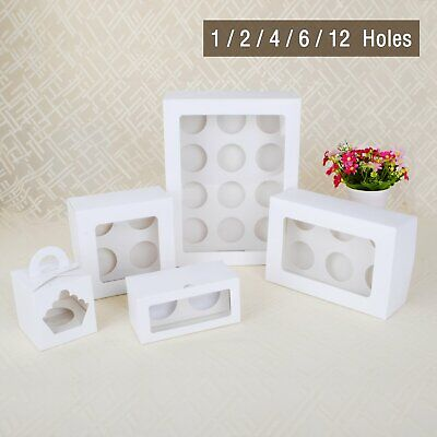 Cupcake Box Cases 1 hole 4 hole 12 hole holes Window Face Cases Party Baby Gift