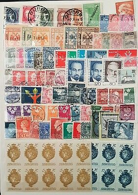 Europe Albania Liechtenstein Greece Used and Mint Stamps Collection  Lot # 13