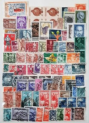 Europe Italy Switzerland Greece Used and Mint Stamps Collection  Lot # 56