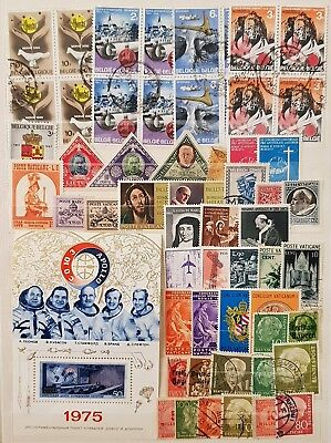 Europe Germany Belgium Vatican Used and Mint Stamps Collection  Lot # 1