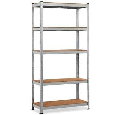 "71"" 5 Level Shelf Shelving Storage Rack Heavy Duty Metal For Your Garage"