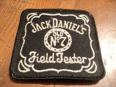 Vintage JACK DANIELS Field Tester, Embroidered Cloth Patch, Old No.7