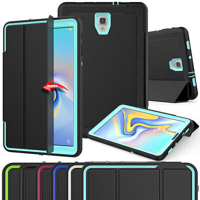 Hybrid Leather Built in Screen Protector Case Cover For Samsung Tab A 10.5 T590