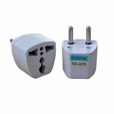 Adaptador Enchufe de UK-US-AU-Asia a Enchufe Europeo Blanco