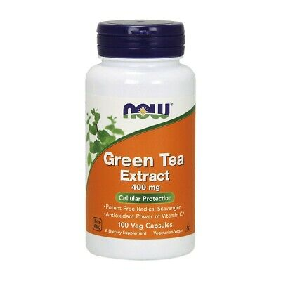 Now Green Tea Extract 400mg - 100 vegane Kapseln Grüntee-Extrakt, EGCG