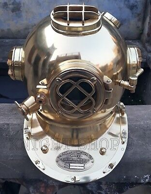"Christmas Gift18"" Morse US Navy Mark V Diving Divers Helmet Full Steel Full Size"