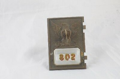 Antique .Postal Door Post Office Door 802 Mail Box 1895 Yale & Towne Eagle Key