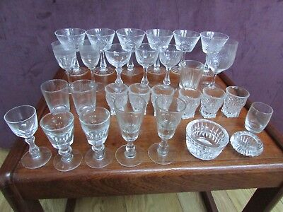 Job Lot of mostly Antique Glasses,- plus others ..late mothers estate