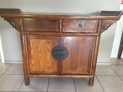 Chinese Asian Elm Cabinet