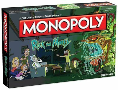 Rick And Morty Monopoly Board Game***NEW***LIMITED STOCK AT THIS BARGAIN PRICE**