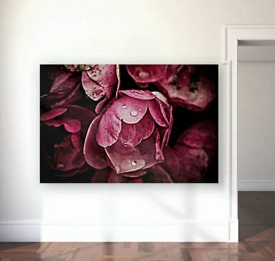 FLOWERS & TREES WATERCOLOR  WALL ART picture Canvas home wall choose your size
