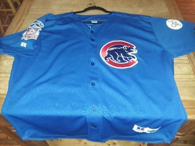Chicago Cubs Sammy Sosa Russell Jersey with Harry Carey & Brickhouse Patch RARE!