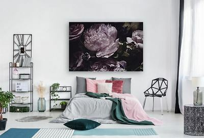 BEAUTIFUL FLOWERS & TREES WATERCOLOR ART WALL Canvas home wall choose your size