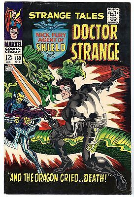 Strange Tales #163 with Nick Fury Agent of SHIELD & Dr. Strange, Fine - VF Cond'