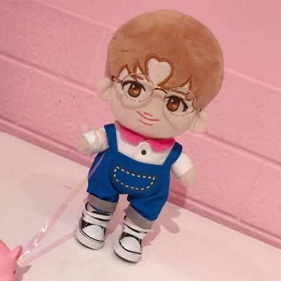 20cm KPOP BTS Plush Toy Rap Monster RM Doll +T-shirt+Rompers+Shoes【Full Set】