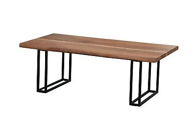 Antique Rustic Live Edge Reclaimed Wood Dining Table Acacia Wood Dining Table,