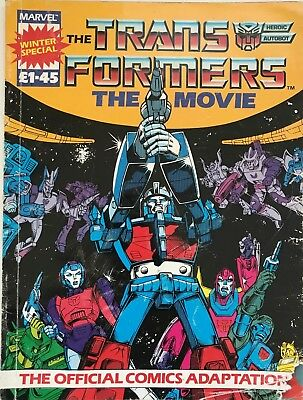 Transformers The Movie Official Comics adaptation 1986 Marvel - Winter Special