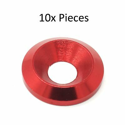 m6 Aluminium Countersunk Washer Fairing Fender Karting CNC 19mm OD Red x 10