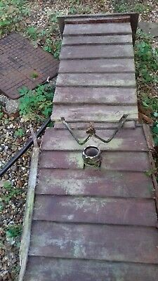 Victorian/Early 1900s water pump. Wood housing, Iron/lead mechanism.Restoration