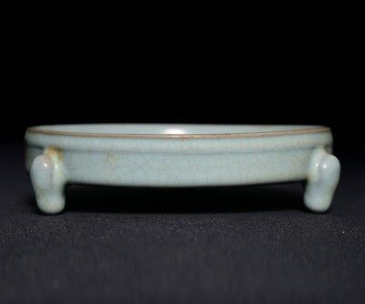 Rare Great Chinese Porcelain Ru Kiln Celadon Old Brush Washer Collection FA1025