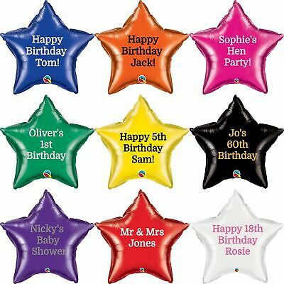 "Personalised Foil Balloon Star 20"" Message Name Birthday Party Decorations Age"