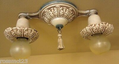 Vintage Lighting antique 1920s set. One ceiling fixture. Two sconces