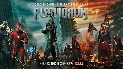 """CW- ELSEWORLDS 11""""x17"""" TV SERIES POSTER PRINT #1"""