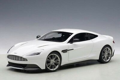 Aston Martin Vanquish in Glossy White in 1:18 Scale by AUTOart