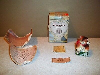 NIB Enesco Calico Kittens I'm All Yours Figurine w/Certificate & Original Box