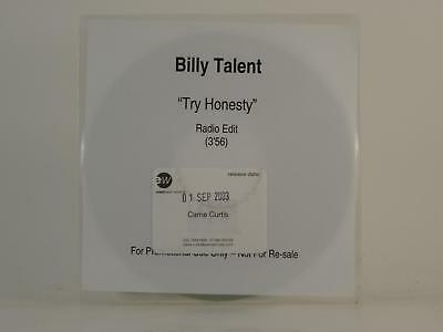 BILLY TALENT,TRY HONESTY,EX/EX,1 Track, Promotional CD Single, White Sleeve,ATLA