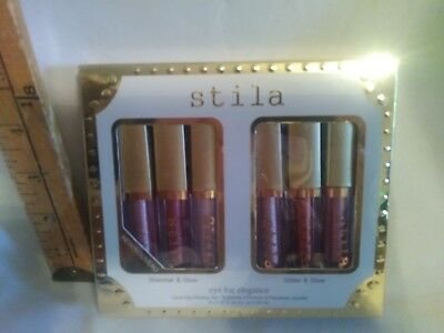 Stila Eye For Elegance Liquid Shimmer Glow & Glitter Glow Eye Shadow Set 6pc NIB