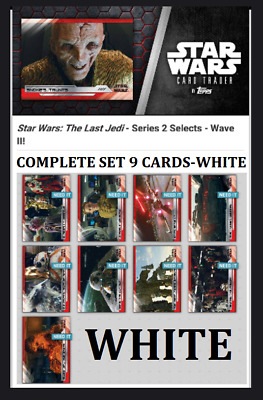 Topps Star Wars Card Trader The Last Jedi Select S2 Wave 2 [Set 9 Cards] White