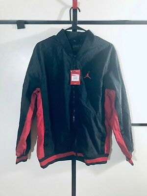 96840b5c1df5 Nike Jordan Mens Team Warm Up Full Zipper Jacket Black Red NWT Vintage Rare!