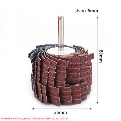 Double-sided Emery Cloth Sandpaper Abrasive Flap Wheel With 6MM Shank 80~600#