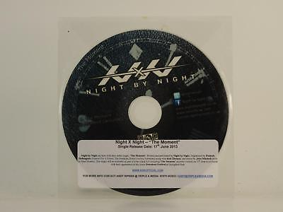 NIGHT BY NIGHT,THE MOMENT,EX/VG,2 Track, Promotional CD Single, Plastic Sleeve,