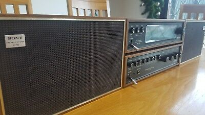 1970's Retro Sony SA-70 Hifi system - Tested and in full working order.