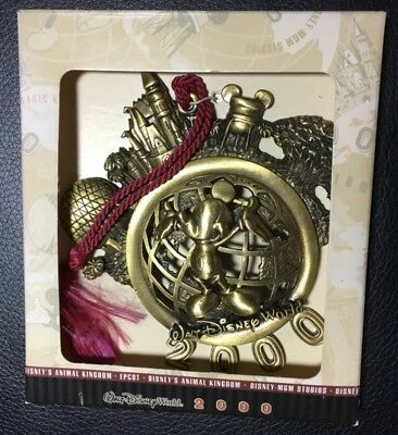 Walt Disney World 2000 Metal Ornament Mickey Mouse Magic Kingdom SHIPS FREE