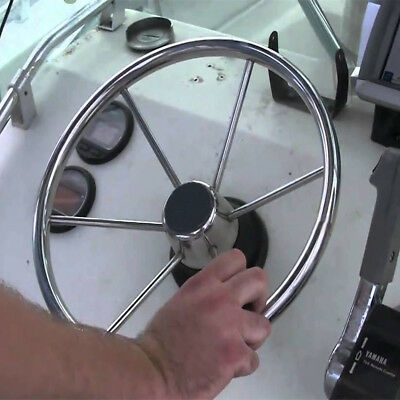 13.5'' Boat Steering Wheel 316 Stainless Steel 25 Degree Marine Yacht With Knob
