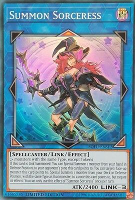 Yugioh! Summon Sorceress - SOFU-ENSE2 - Super Rare - Limited Edition Near Mint,