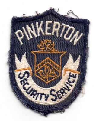 Vintage PINKERTON Security Service Police Patch