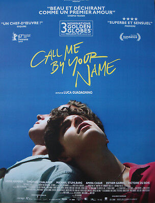 CALL ME BY YOUR NAME Affiche Cinéma Originale ROULEE 53x40 Movie Poster