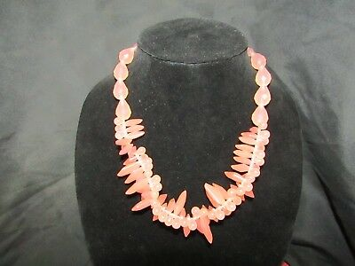 Mark. for Avon, salmon colored faux crystal necklace
