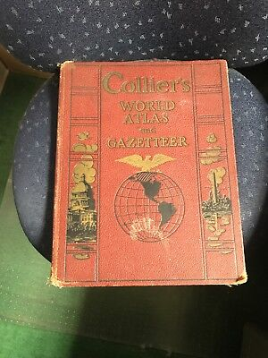 Antique 1936 Collier's World Atlas And Gazetteer