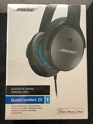 NEW Bose QuietComfort 25 QC Acoustic Noise Cancelling Headphones for Apple IOS