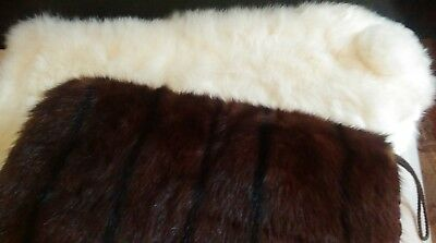 Large Mink Muff + White Fur Wrap / City Fur Co. N.y.
