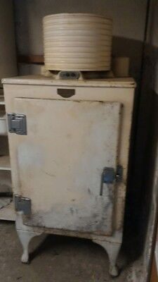 Circa 1930's General Electric GE Electric Monitor Top Refrigerator.