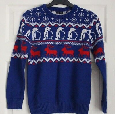 Childs Quality Knit Boys Christmas Jumper Age 9 from Next (1)
