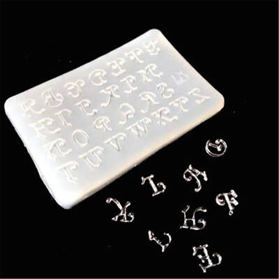 1pc letters Silicone Mould DIY Resin Decorative Craft Jewelry Making resin@molds